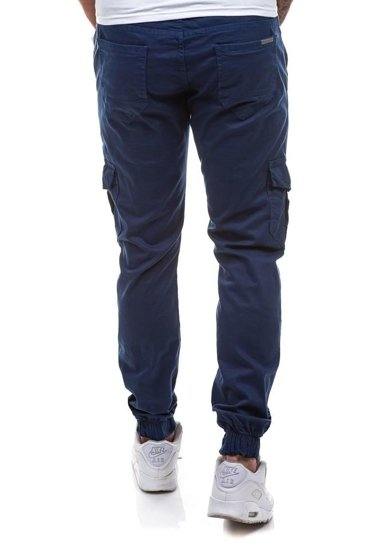 Tmavě modré pánské jogger kapsáče Bolf 0802