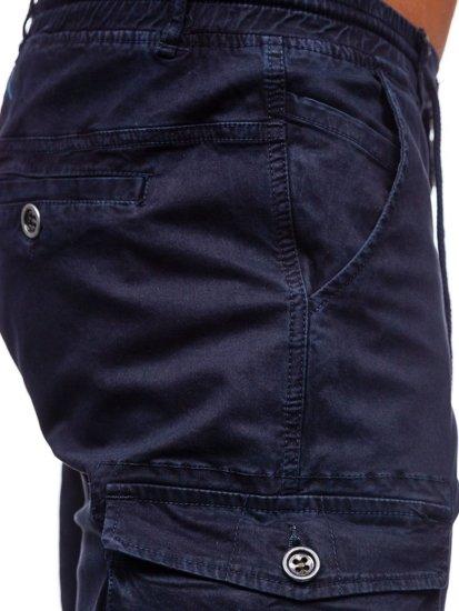 Tmavě modré pánské kapsáčové kraťasy Bolf 5011