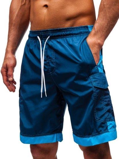 Tmavě modré pánské koupací šortky Bolf 337