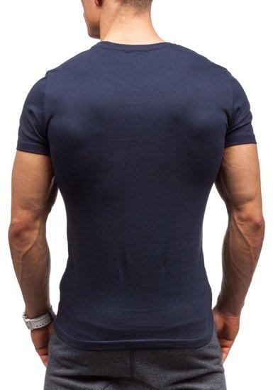 Tmavě modré pánské tričko Bolf 7427