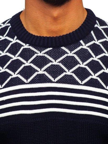 Tmavě modrý pánský svetr Bolf 3017