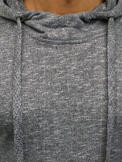 Tmavě šedá pánská mikina s kapucí Bolf 7033