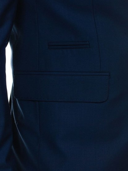 Tmavomodrý pánský oblek Bolf 1000A