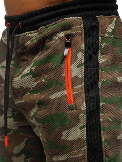 Vícebarevné pánské maskáčové tepláky Bolf 3783B
