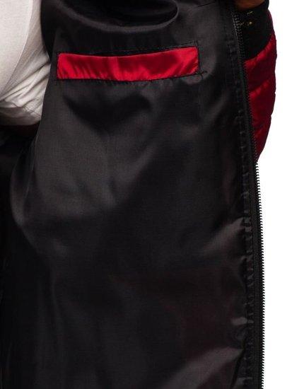 Vínová pánská sportovní přechodová bunda Bolf MY22
