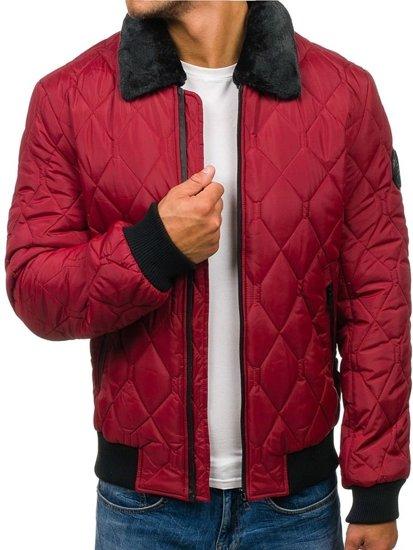Vínová pánská zimní bunda Bolf 4821