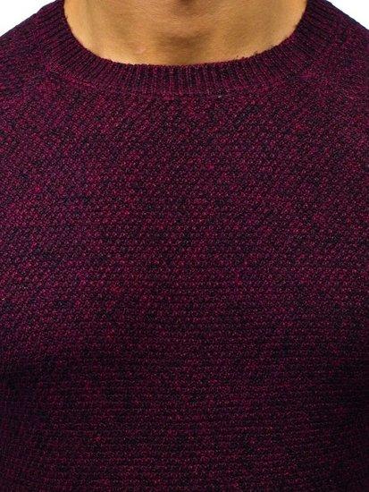 Vínový pánský svetr Bolf H1810