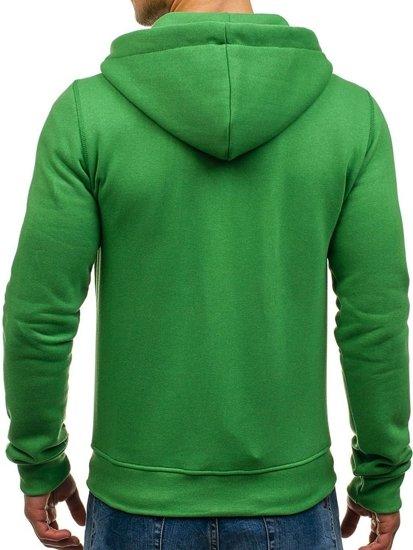 Zelená pánská mikina s kapucí Bolf 03