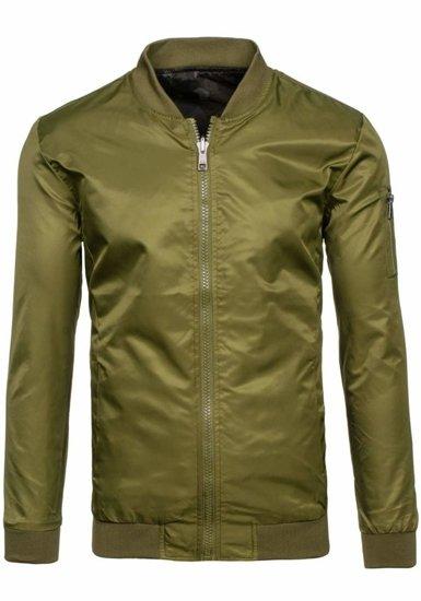 Zelená pánská přechodová bunda Bolf 7718