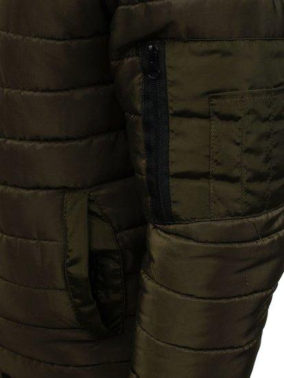 Zelená pánská sportovní přechodová bunda Bolf AK85