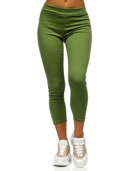 Zelené dámské legíny Bolf YW01036-A
