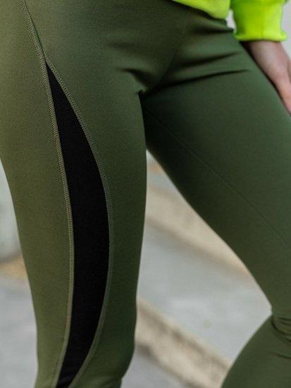 Zelené dámské legíny Bolf Z001