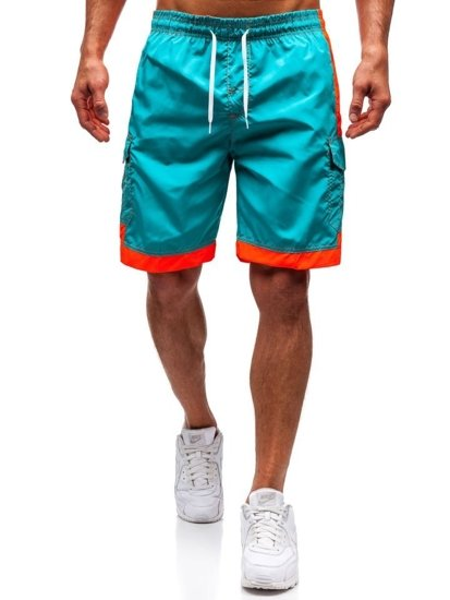 Zelené pánské koupací šortky Bolf 337