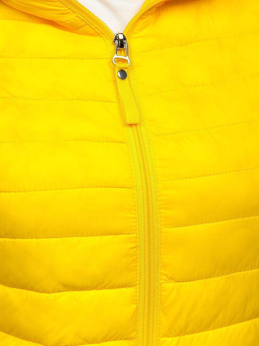 Žlůtá dámská prošívaná přechodová bunda Bolf B0101