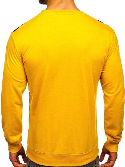 Žlutá pánská mikina bez kapuce Bolf HY697