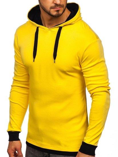Žlutá pánská mikina s kapucí Bolf 145380