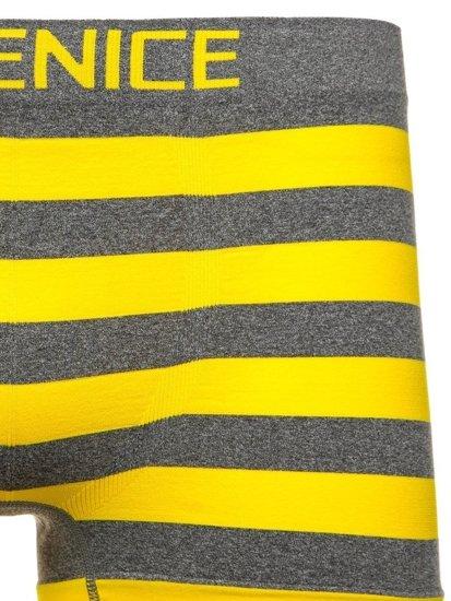 Žluté pánské boxerky Bolf PL4327