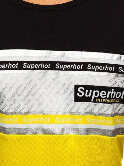 Žluté pánské tričko s potiskem Bolf KS1959