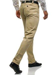 Béžové pánské chino kalhoty Bolf 6190