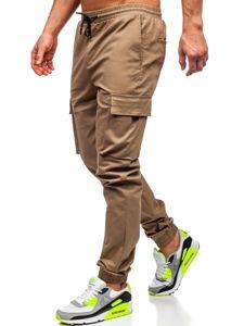 Béžové pánské jogger kapsáče Bolf 701
