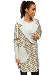 Béžový dámský kabát Bolf 20682