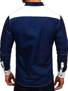 Bílá pánská elegantní košile s dlouhým rukávem Bolf 9706