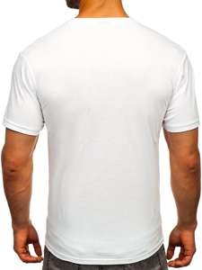 Bílé pánské tričko s potiskem Bolf 1181