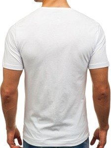Bílé pánské tričko s potiskem Bolf 6296
