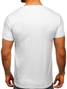 Bílé pánské tričko s potiskem Bolf KS1834