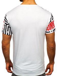 Bílé pánské tričko s potiskem Bolf KS2020