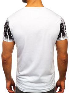 Bílé pánské tričko s potiskem Bolf SS10958