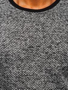 Bílo-černá pánská mikina bez kapuce Bolf 2001-3