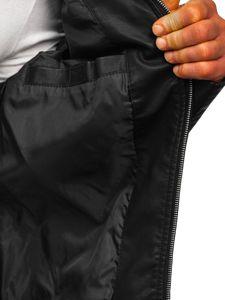 Černá pánská koženková bunda Bolf 1125