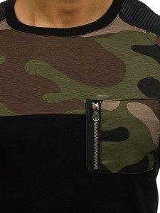 Černá pánská mikina bez kapuce Bolf 0749