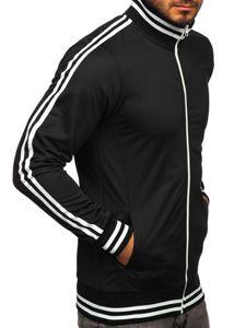 Černá pánská mikina na zip bez kapuce retro style Bolf 11113