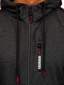 Černá pánská mikina na zip s kapucí Bolf TC1051