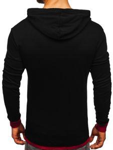 Černá pánská mikina s kapucí Bolf 145380