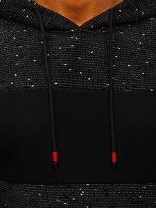 Černá pánská mikina s kapucí Bolf KS2230