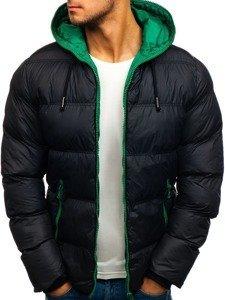 Černá pánská sportovní zimní bunda Bolf 8851