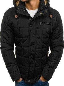 Černá pánská zimní bunda Bolf 1666