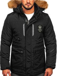 Černá pánská zimní bunda Bolf 1827