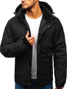 Černá pánská zimní lyžářská bunda Bolf HZ8107