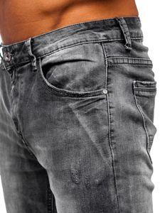 Černé pánské džíny straight leg Bolf KA1575