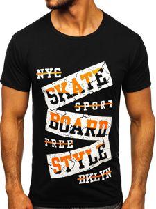 Černé pánské tričko s potiskem Bolf KS2019