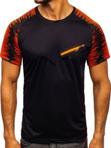 Černé pánské tričko s potiskem Bolf KS2071