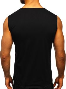Černé pánské tričko s potiskem Bolf KS2075
