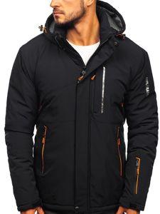 Černo-oranžová pánská zimní lyžářská bunda Bolf 1910