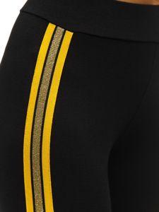 Černo-žluté dámské legíny Bolf W82331