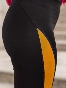 Černo-žluté dámské legíny Bolf Z001