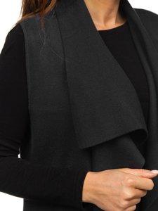 Černý dámský svetr kardigan bez rukávů Bolf AL0220l